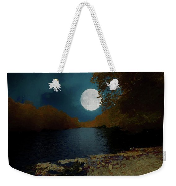 A Full Moon On A River. Weekender Tote Bag