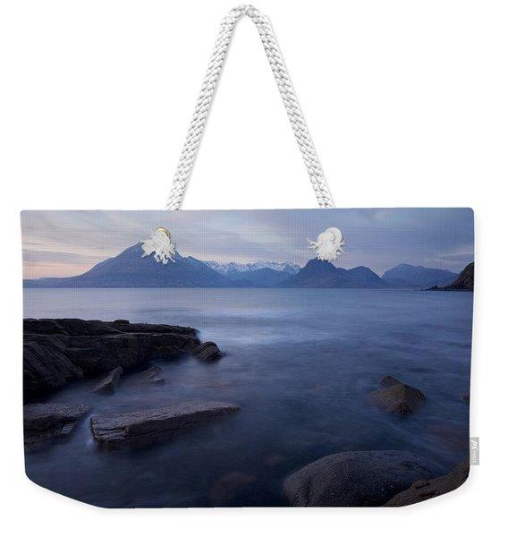 A Gentle Sunset At Elgol  Weekender Tote Bag