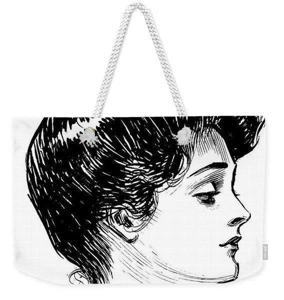A Gibson Girl, 1902 Litho Weekender Tote Bag
