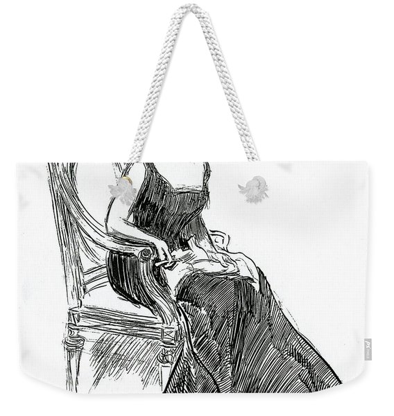 A Gibson Girl Dated 1902 Weekender Tote Bag