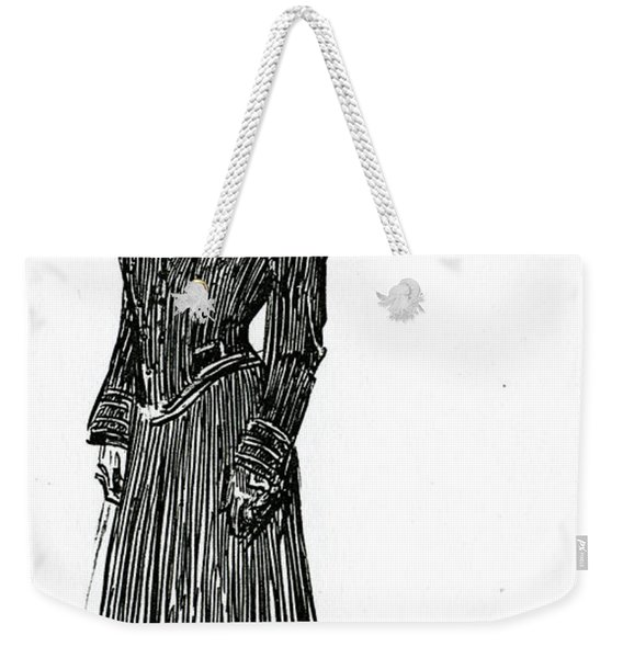 A Gibson Girl In A Dress Weekender Tote Bag