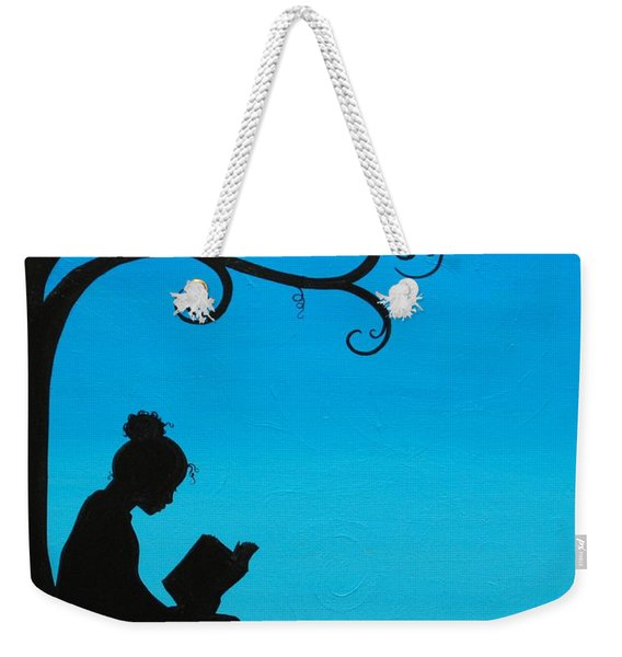 A Girl And Her Book Weekender Tote Bag