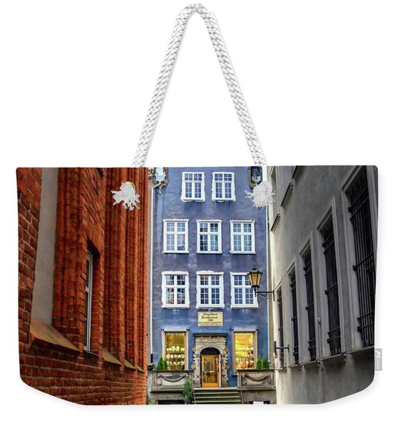 A Glimpse Of Mariacka Street In Gdansk Poland Weekender Tote Bag