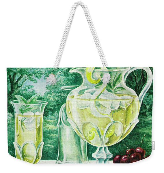 A Gourmet Cover Of Glassware Weekender Tote Bag