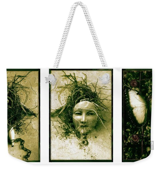 A Graft In Winter Triptych Weekender Tote Bag