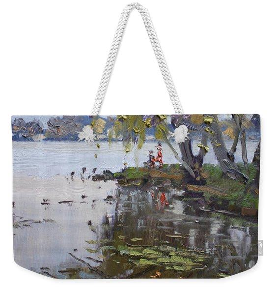 A Gray Rainy Day At Fishermans Park Weekender Tote Bag