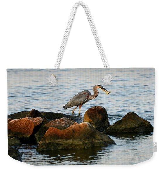 A Great Blue Heron Day Weekender Tote Bag