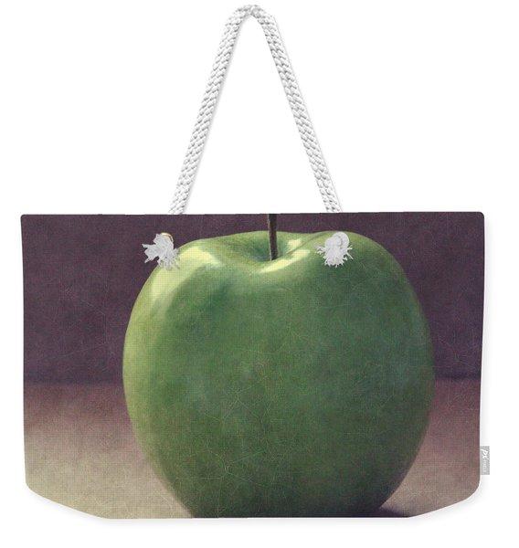 A Green Apple- Art By Linda Woods Weekender Tote Bag