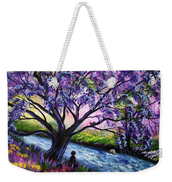 A Happy Moment Meditation Weekender Tote Bag