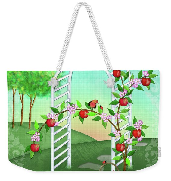 A Is For Arbor And Apples Weekender Tote Bag
