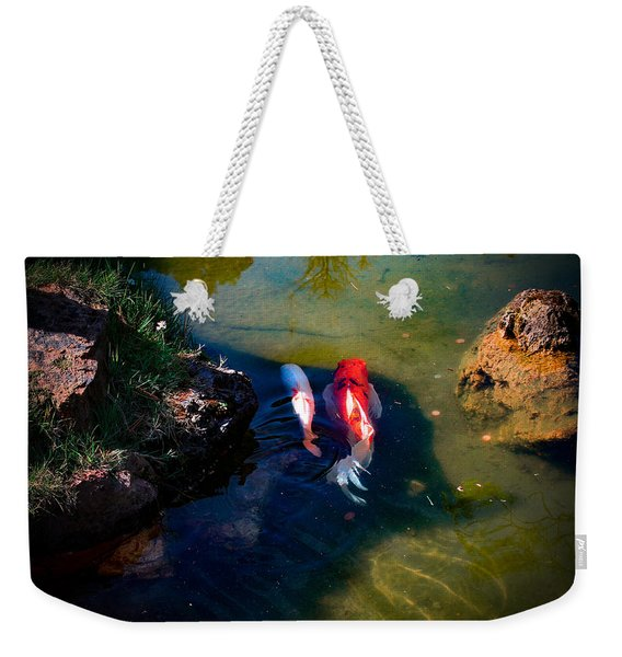 A Koi Romance Weekender Tote Bag