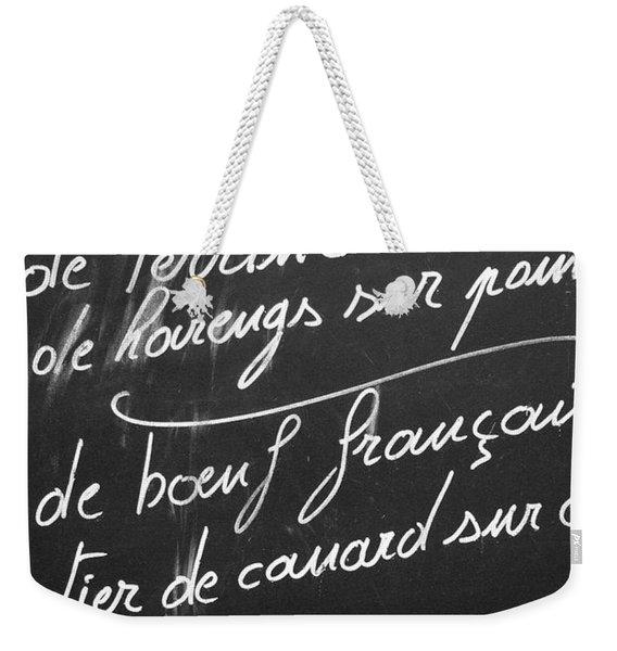 A La Carte Weekender Tote Bag