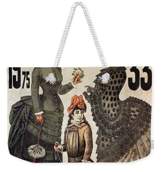 A La Tour St.jacques - Rue De Rivoli - Vintage Fashion Advertising Poster - Paris, France Weekender Tote Bag