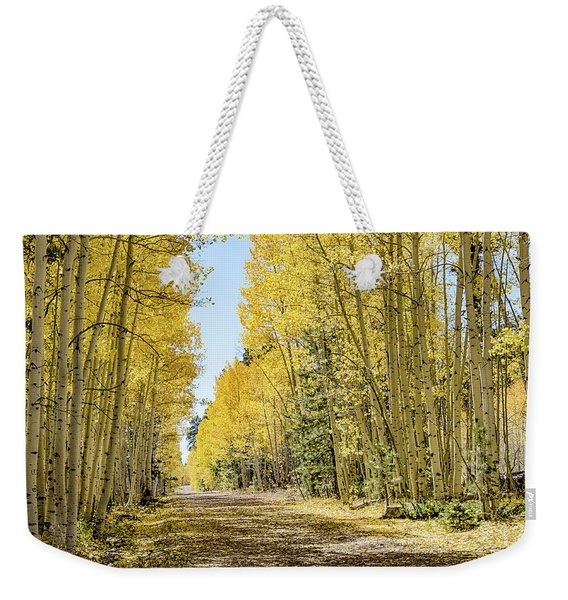 A Lane Of Gold Weekender Tote Bag