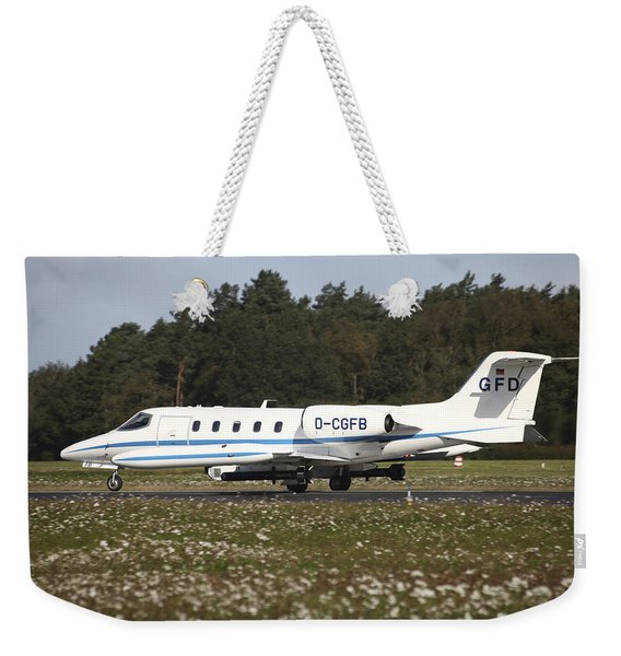 A Learjet Of Gfd With Electronic Weekender Tote Bag