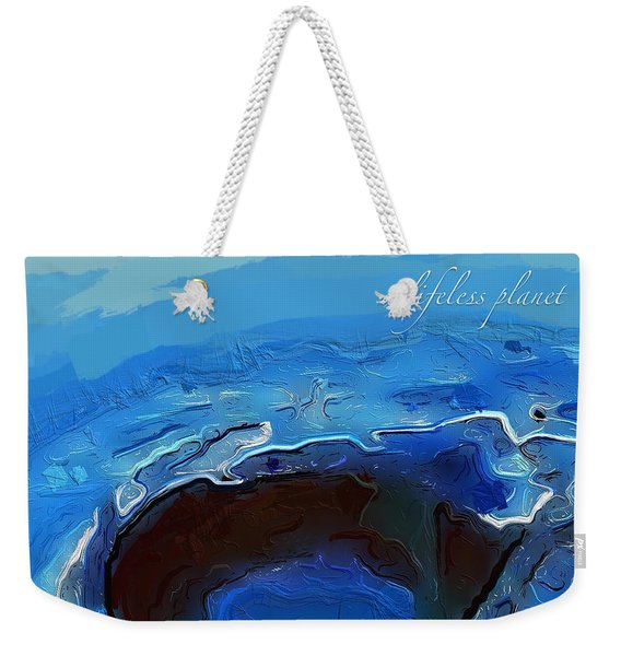A Lifeless Planet Blue Weekender Tote Bag