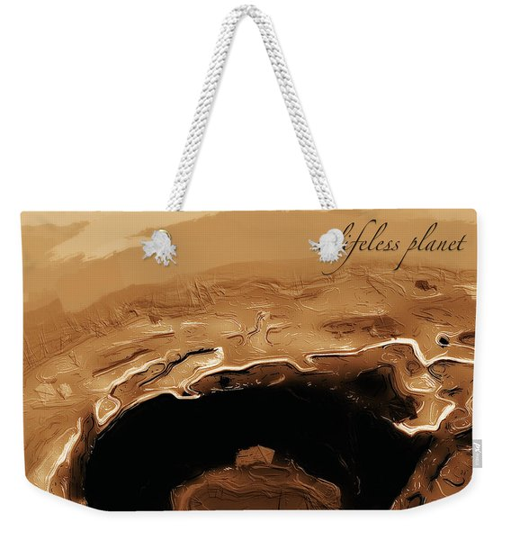 A Lifeless Planet Brown Weekender Tote Bag