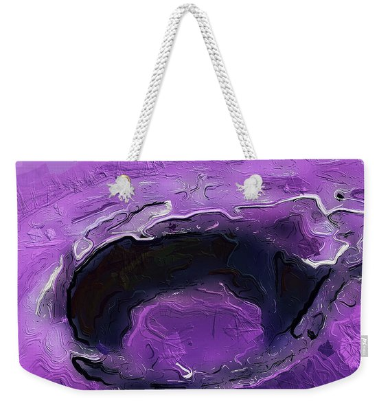 A Lifeless Planet Purple Weekender Tote Bag