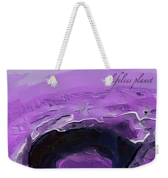 A Lifeless Planet Purple Weekender Tote Bag
