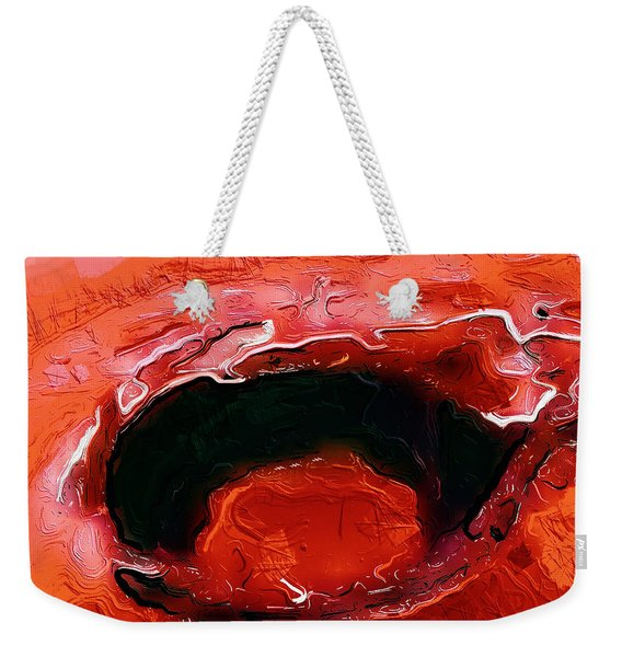 A Lifeless Planet Red Weekender Tote Bag