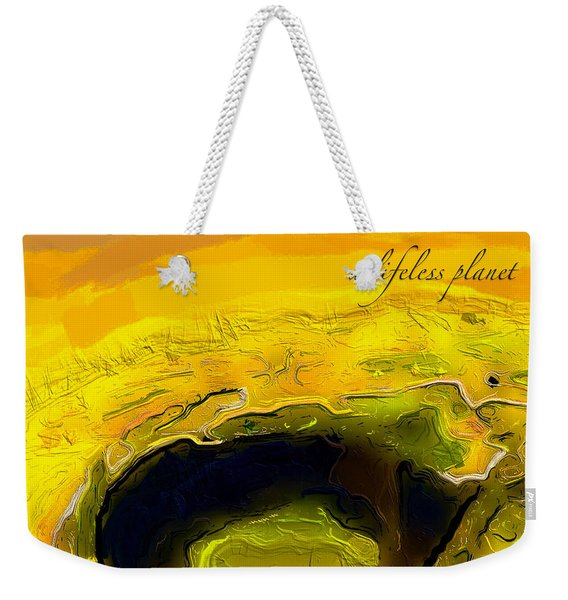 A Lifeless Planet Yellow Weekender Tote Bag
