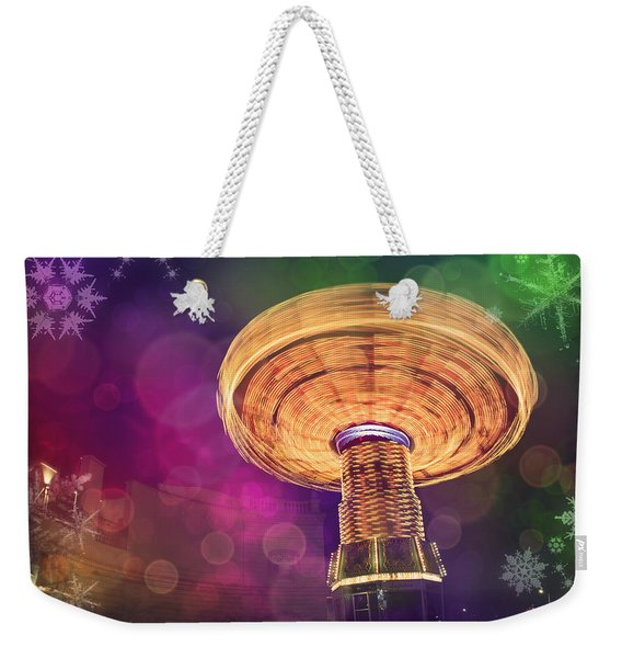 A Light Spin Weekender Tote Bag