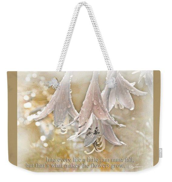 A Little Rain Weekender Tote Bag