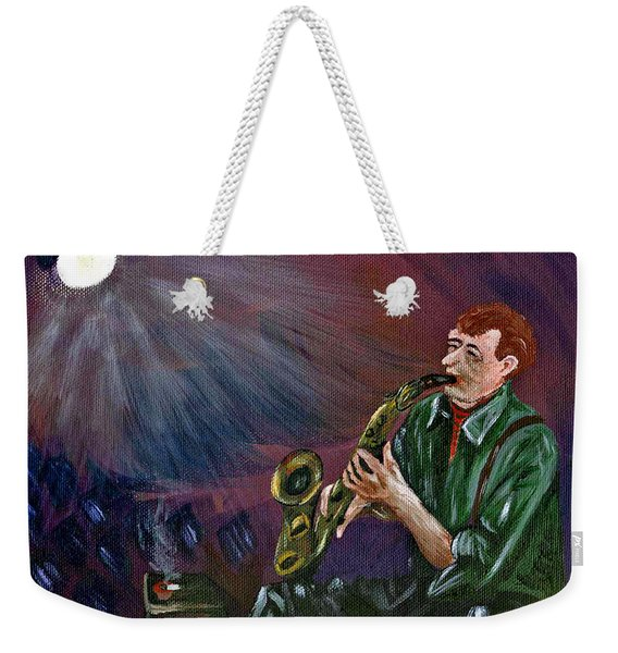 A Little Sax Weekender Tote Bag
