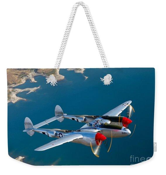 A Lockheed P-38 Lightning Fighter Weekender Tote Bag