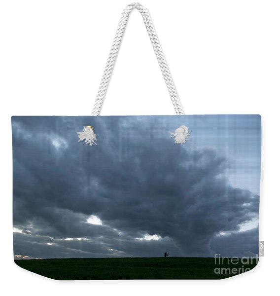 Alone In The Face Of The Storm Weekender Tote Bag