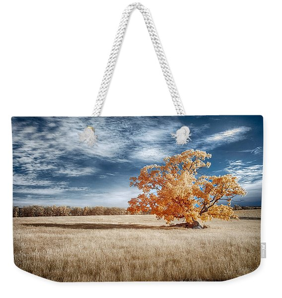 A Lone Tree Weekender Tote Bag
