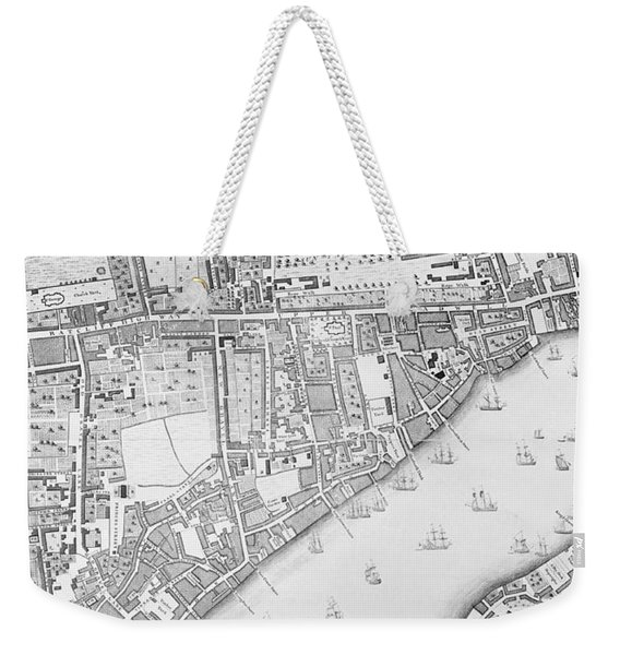 A Map Of Wapping Weekender Tote Bag