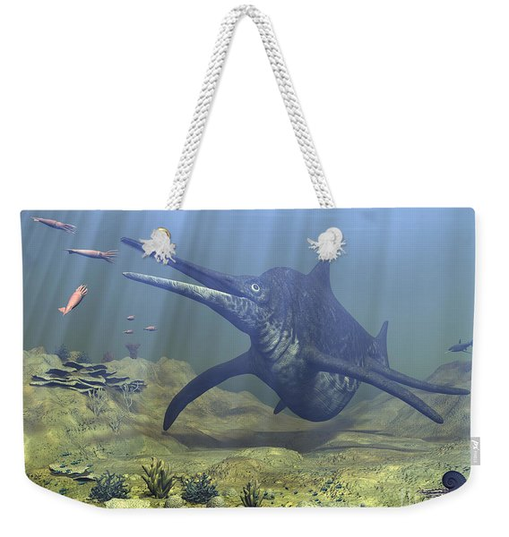 A Massive Shonisaurus Attempts To Make Weekender Tote Bag