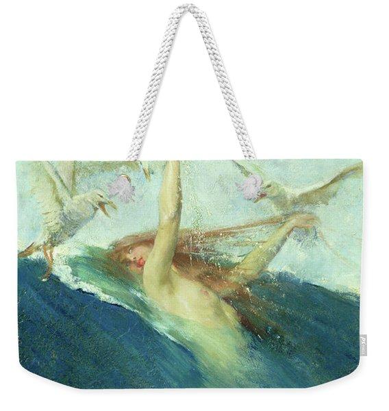 A Mermaid Being Mobbed By Seagulls Weekender Tote Bag