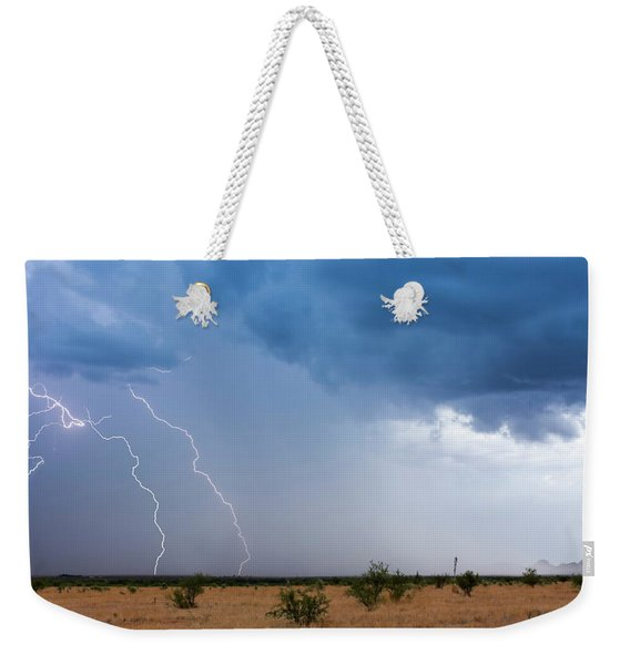 A Monsoon Storm Moves Across The Arizona Desert Weekender Tote Bag