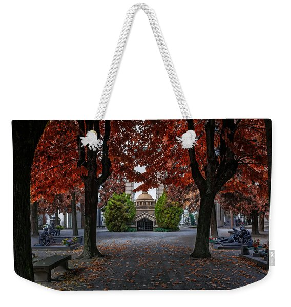 A Monumental Autumn In Milan Italy Weekender Tote Bag
