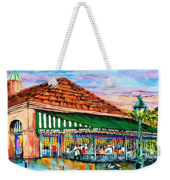 A Morning At Cafe Du Monde Weekender Tote Bag