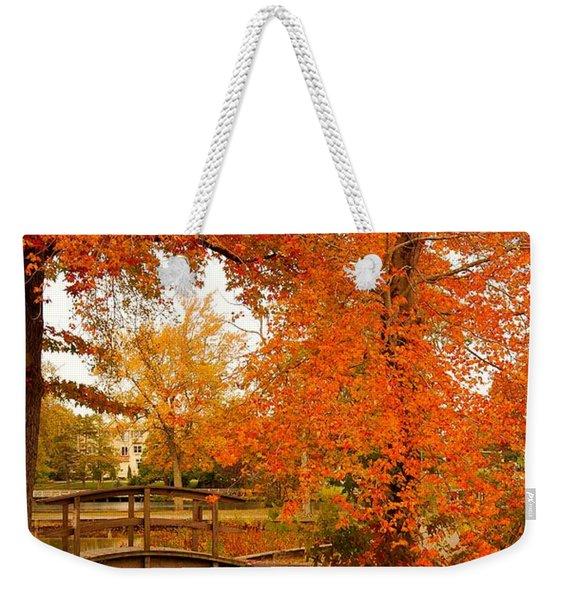 A Morning In Autumn - Lake Carasaljo Weekender Tote Bag
