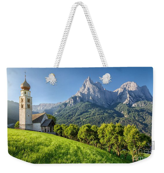 A Morning In The Dolomites Weekender Tote Bag