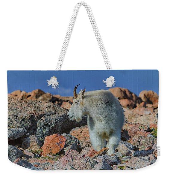 A Mountain Goat Pose Weekender Tote Bag