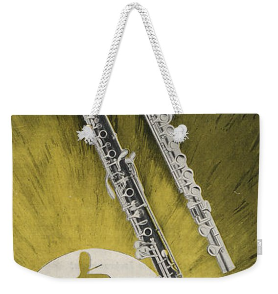 A Musician Playing A Charles Gerard Conn Flute Weekender Tote Bag