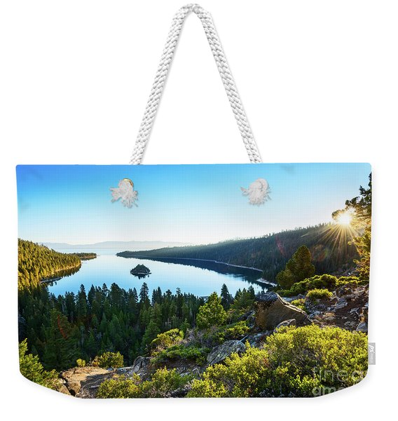 A New Day Over Emerald Bay Weekender Tote Bag