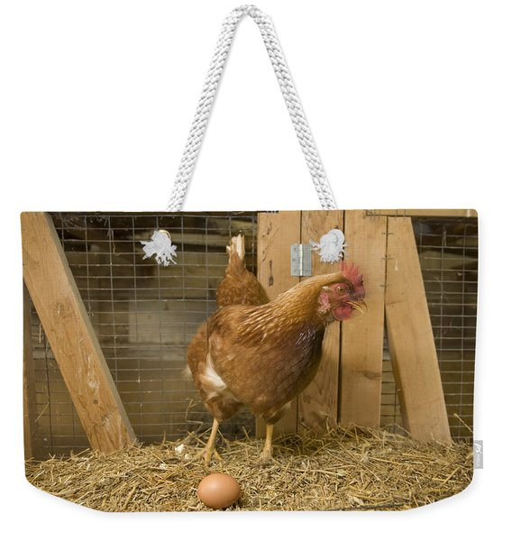 A New Hampshire Red Hen Chicken Weekender Tote Bag