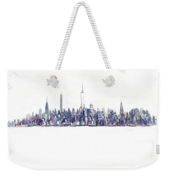 A New Year In Manhattan Weekender Tote Bag