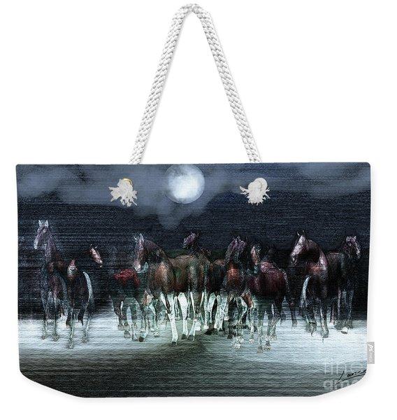 A Night Of Wild Horses Weekender Tote Bag