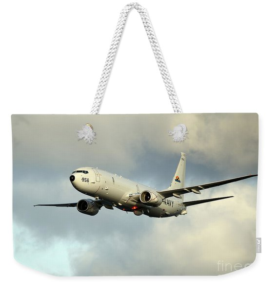 A P-8a Poseidon In Flight Weekender Tote Bag