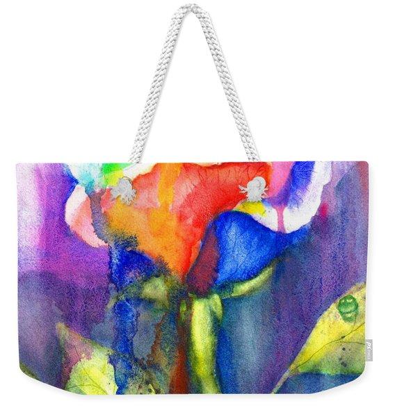 A Painted Rose In The Rain Weekender Tote Bag