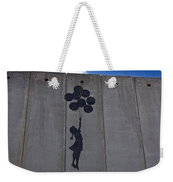 A Painting On The Israeli Separartion Weekender Tote Bag