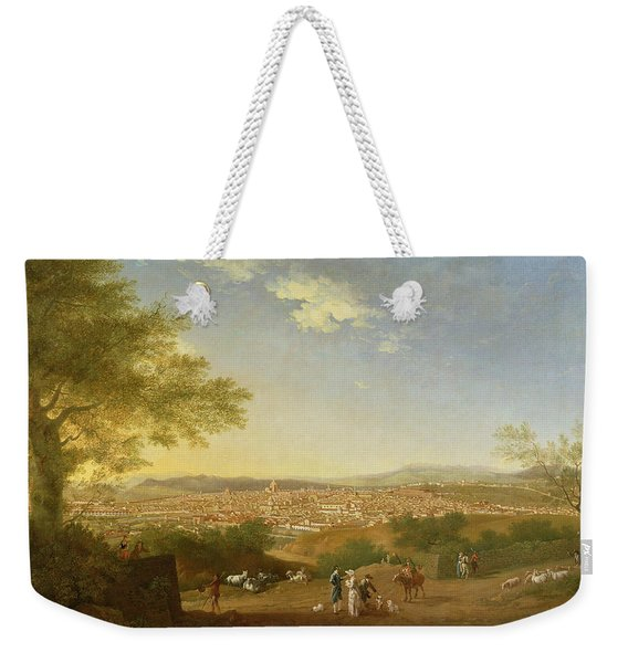 A Panoramic View Of Florence From Bellosguardo Weekender Tote Bag