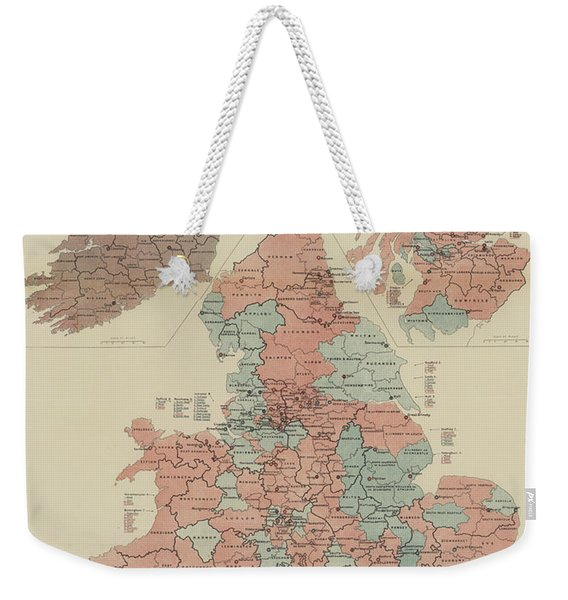 A Parliamentary Map Of The United Kingdom Of Great Britain And Ireland Weekender Tote Bag